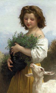 Esmeralda [Little Esmeralda].  Bouguereau, William Adolphe