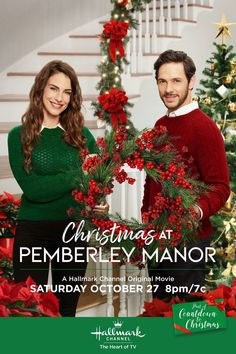 """Get video, photos and more for the Hallmark Channel original movie """"Christmas at Pemberley Manor"""" starring Jessica Lowndes and Michael Rady. Hallmark Channel, Películas Hallmark, Films Hallmark, Hallmark Holiday Movies, Christmas Movies On Tv, Hallmark Holidays, Christmas Fun, Halloween Movies, Magical Christmas"""