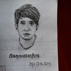 Super small #portrait of #danisnotonfire #DanHowell I did during my hour long math class today! It was quite a successful class. #danisnotonfirefanart #danhowellfanart #doodle #sketch #drawing #calculus #art #math #YouTube #youtuber #danandphilbbcradio1 #danandphilgames #British #emilygreesonart #emilygreeson