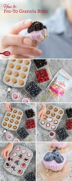 Froyo Granola Bites - Protein-packed, portable and infinitely pop-able, you can mix and match the ingredients for these gluten-free snacks #kids