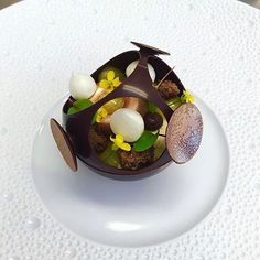 """Dark chocolate, calamansi, speculaas"" Incredible dessert by @annekeverhagen1248  #ChefsPlating for your chance to be featured.  #chef #chefsofinstagram #cheflife #cook #cooking #eeeeeats #finedining #food #foodart #foodphotographer #foodie #foodstagram #foodspotting #foodstyling #gastroart #gastronomy #huffposttaste #instachef #kitchen #food52 #buzzfeedfood #theartofplating #foodblogger #foodaddict #beautifulcuisines"