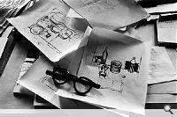 René Burri; Skizzen von Le Corbusier, 24, rue Nungesser-et-Coli (Paris, XVIe arrondissement), 1960. Museum für Gestaltung Zürich, Grafiksammlung. © René Burri / Magnum Photos