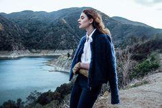 Ms. Morgan  Ryan - Schai Bomber Crop Jacket, Reformation For Nasty Gal Collared Shirt, Zara Dress Pants, Isotoner Riding Gloves - COUNTRYSIDE SWAY