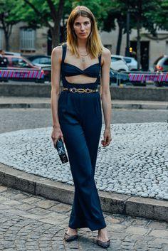 July 4, 2015  Tags Paris, Studded, Louis Vuitton, Veronika Heilbrunner, Women, Flats, Jumpsuits, Clutches, Necklaces, Pinstripes, Alessandra Rich