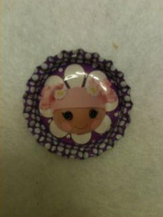 Purple Lalaloopsy Doll Bottle cap Necklace by LillypadPark on Etsy, $4.95