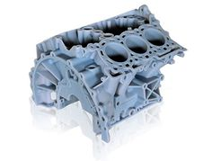 engine block mock-up for fit and assembly check