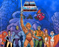He-Man - masters of the universe!  i wld never miss this cartoon! he was my hero then :)