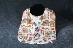 Adult Bib Clothes Protector with Velcro Closure by DandHspecialties on Etsy