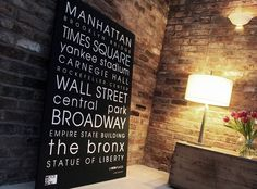 WOW 'Classic New York' Personalised Canvas by Words on Walls
