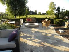 Low Custom Fire Pit, White Cap  Fire Pit  Small's Landscaping Inc  Valparaiso, IN