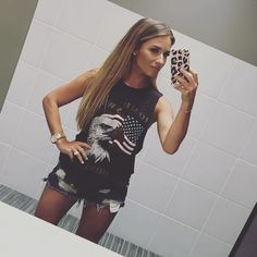 i love those shorts and the cut of that tank!