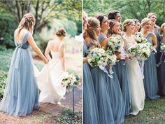 Wedding blue pastel pantone 2016 new ideas Purple Bridesmaid Dresses, Blue Wedding Dresses, Wedding Bridesmaids, Short Wedding Hair, Trendy Wedding, Wedding Makeup Blue, Wedding Blue, Serenity, Lace Wedding Dress With Sleeves