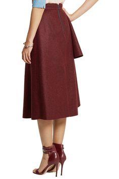 Cranberry wool-blend felt  Zip fastening along back  91% wool, 7% cotton, 2% silk; lining: 100% polyester  Dry clean