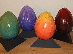 Dragon eggs from my Harry Potter unit.