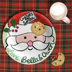 Cookies for Santa Personalized Plate and Mug Set #rosenberryrooms