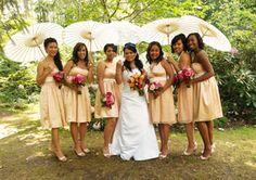 Cherry Blossom colors... I really like the umbrellas!!