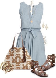 32 Polyvore Casual Dress Outfits for Spring and Summer - Be Modish - Be Modish