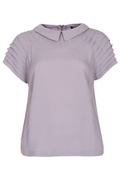 Pleat Sleeve Detail Tee--- Topshop