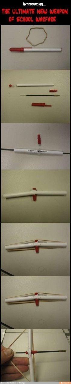 How to build bow and arrow pen