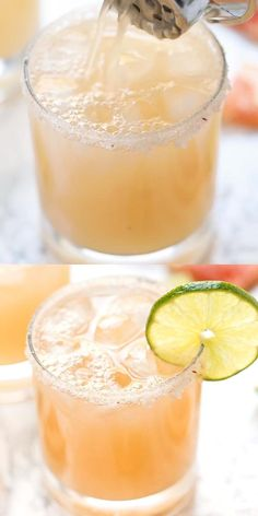 These Healthy Grapefruit Margaritas use just 4 ingredients, are ready in 10 minutes and have NO added sugar! They're a fun twist on the skinny margarita! Made with tequila and triple sec, this is the best easy summer cocktail recipe. Refreshing Summer Cocktails, Easy Cocktails, Summer Drinks, Best Rum Cocktails, Triple Sec Cocktails, Prosecco Cocktails, Best Cocktail Recipes, Grapefruit Cocktail, Lemonade Cocktail