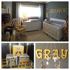 Grayson's gray and yellow nursery