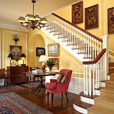 <p>A beautiful staircase is not the only striking feature of this 1913 home</p>
