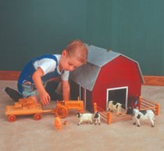 Big Barn Wood Plans Build our Big Barn for your little farmer! The ...