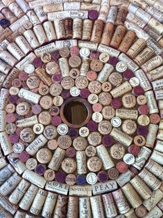 Cork mandala (use bottlecaps too?)