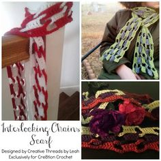 The Interlocking Chains Scarf pattern was designed by Cre8tion Crochet Contributor Leah Feild.  Leah is the owner of Creative Threads by Leah. I love browsing Pinterest for inspiration and finding new stitches. I came across the stitch I used in this one a few months ago and this idea has been bouncing around in my [...]