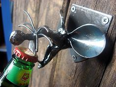 Rat Bottle Opener Wall mounted and handmade from by PlanetDork, $39.99