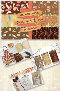 Watercolor Leaves, Watercolor Pattern, Fall Patterns, All Paper, Autumn Fall, Digital Pattern, Lorraine, Decoupage, Card Making