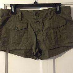 Shorts Army green cargo shorts, naught for vacation but they didn't fit. Arizona Jean Company Shorts Cargos