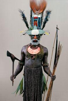 Mendi tribesman, Tente village, Southern Highlands Man As Art - Malcolm Kirk: Photographs