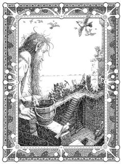Tomislav Tomic. Priče iz davnine 2, 2004. objavio Golden Marketing, tuš Tales from long ago 2, 2004. published by Golden Marketing, indian ink