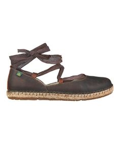 They're so beautiful!!!  Take a look at this Chocolate Ankle-Tie Flat by El Naturalista on #zulily today!