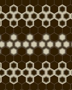 HEXAGON #8 BANDED WITH SOLID HEXAGONS