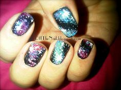 Brian Cox inspired Galaxy Nails!  I love this!