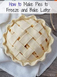 For peach truck peaches! Make Pies to Freeze and Bake Later - An Easy How To Guide - Comfortably Domestic Make pies to freeze and bake later. Making holiday pies has never been easier with this make ahead method to freeze pies and bake them later! Freezer Desserts, Freezer Cooking, Just Desserts, Delicious Desserts, Yummy Food, Freezer Recipes, Freezer Apple Pie Recipe, Cooking Tips, Cooking Lamb