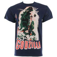 Godzilla Poster T Shirt (Blue)