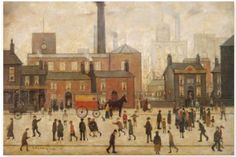 size: Stretched Canvas Print: Coming Home From The Mill by Laurence Stephen Lowry : Using advanced technology, we print the image directly onto canvas, stretch it onto support bars, and finish it with hand-painted edges and a protective coating. Edward Hopper, Salford, Mondrian, Klimt, Urban Landscape, Landscape Art, Landscape Posters, Picasso, Spencer