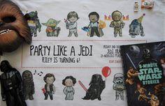 Star Wars party tea towel