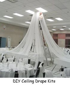 Ceiling Draping /Kit for church liturgical seasons, banners Wedding Ceiling Decor - Reception Decorating Kits