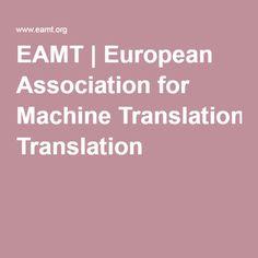 EAMT | European Association for Machine Translation