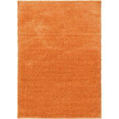 Unique Loom Luxe Solo Orange Area Rug & Reviews | Wayfair