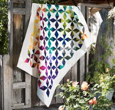 Benartex Gradations Fabrics & Color Swirl Pattern Quilt Kit - White