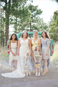 yellow and grey bridal party | diy wedding with recipes, tutorials, and ideas | #weddingchicks