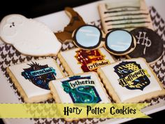 Harry Potter cookies from Firefly Confections.