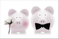 I love pigs and this would be a great way to collect change at the reception for the honeymoon!
