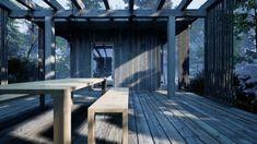 Friggebod som passar perfekt till fritidshus & attefallshus Arrow, Shelter, Deck, Outdoor Decor, Home Decor, Nature, Decoration Home, Room Decor, Front Porches