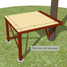 x free standing platform for treehouses Easy Diy Treehouse, Backyard Treehouse, Backyard Fort, Building A Treehouse, Cozy Backyard, Backyard For Kids, Backyard Projects, Treehouse Ideas, Tree Support